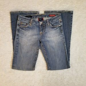 Vigoss Studio Adrianna Flare Stretch Womens Jeans